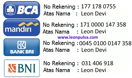 rekening bank leon pulsa